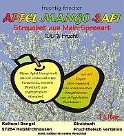 Etikett-Apfel-Mango-Saft
