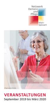 Veranstaltungsbroschüre Netzwerk Demenz und Pflege Main-Spessart