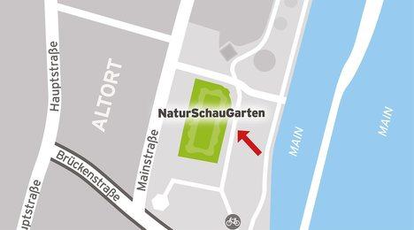 Lageplan Naturschaugarten Main-Spessart