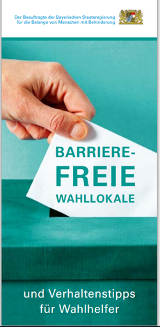 Flyer Barrierefreie Wahllokale