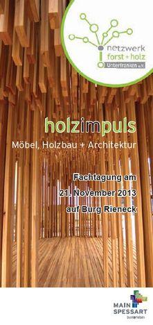 Titelseite Flyer Holzimpuls